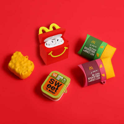 AU21.99 • Buy Cute Maccas Chicken Nuggets Apple Pie AirPod Silicone Case Cover Skin Protector