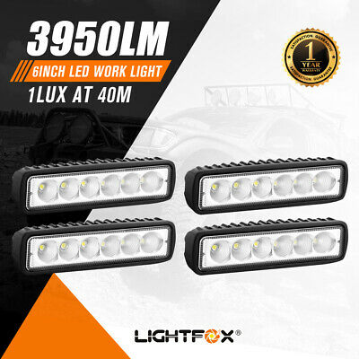 AU29.95 • Buy 4x 6inch 30w LED Work Light Bar Flood Beam Fog Reverse Lamp Driving Offroad