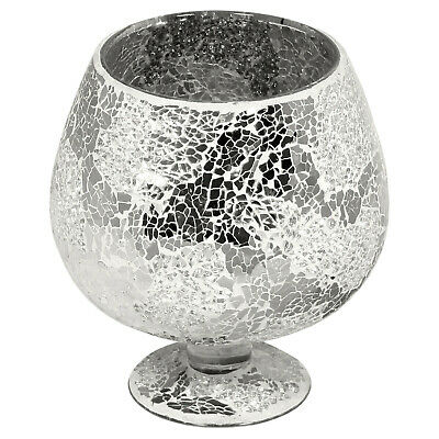 Mirrored Mosaic Glass Goblet Vase • 19.99£