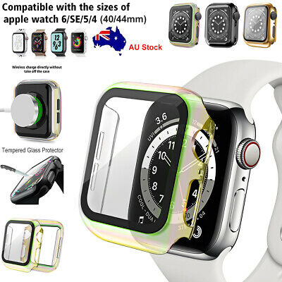 AU12.99 • Buy For Apple Watch Series 6/SE/5/4 Full Cover Case Tempered Glass Protector 40/44mm