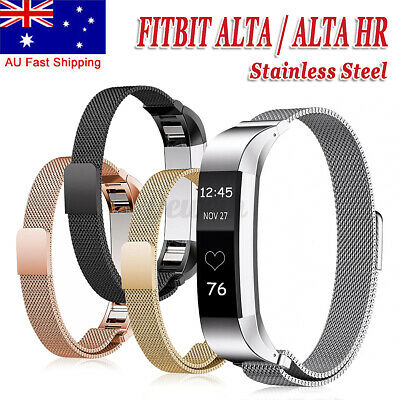 AU17.22 • Buy Replacement Band Metal Stainless Steel Wristband For Fitbit Alta Rose Gold AU