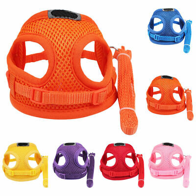 £5.99 • Buy Xxs Tiny Dogs Harness Lead Set Mesh Teacup Puppy Chihuahua Rabbit Cat Toys Pets