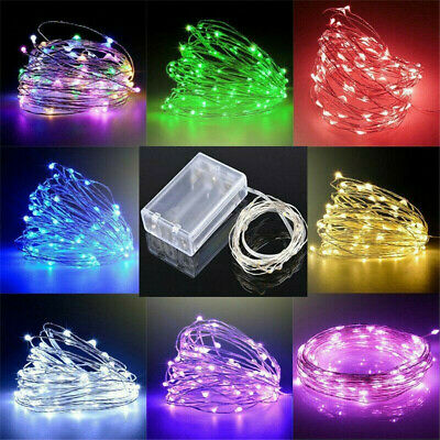 £3.89 • Buy Fairy String Lights Battery Operated Mini LED Copper Silver Wire Xmas Outdoor UK