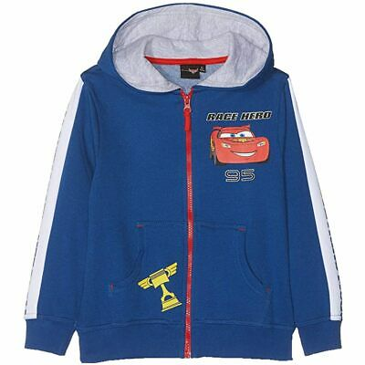Disney Cars Boys Hoodie Sweatjacket Zip Lightning McQueen • 24.09£