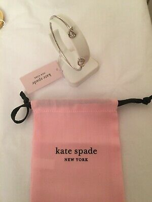 Kate Spade Loves Me Knot Bangle Silver Brand New In Pouch Tags • 35£