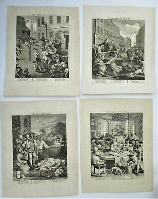 William Hogarth, The Four Stages Of Cruelty, Original Prints, Engraved 1751 • 380£