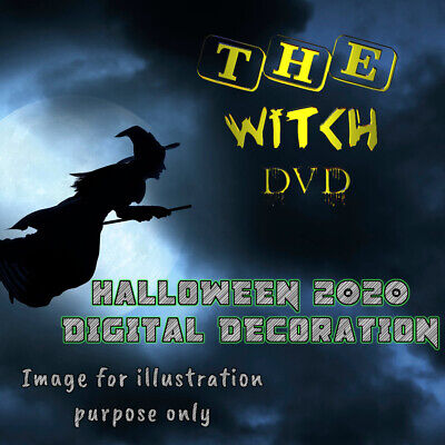 £6.50 • Buy ∞the Witch∞ -digital Window Halloween Decorations For Projector Dvd Format