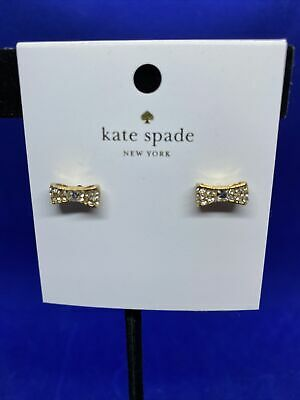 $ CDN23.72 • Buy Kate Spade New York Gold Tone Pave Crystals Bow Stud Earrings Jewelry NWT