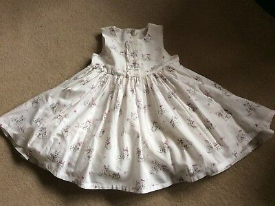 £8 • Buy NEXT WHITE DUCK & RABBIT PRINT NETTED PARTY DRESS.....Age 3-6 Months