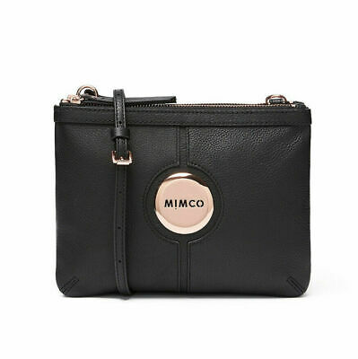 AU119 • Buy MIMCO MIM Couch Bag Black Rose Gold • Cross Body Bag Wallet •100% AUTHENTIC