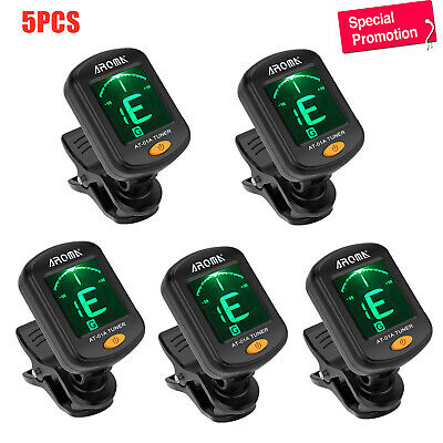 $ CDN25.51 • Buy 5Pc AROMA AT-01A Digital Chromatic Clip-on Tuner F/Acoustic Electric Guitar Bass