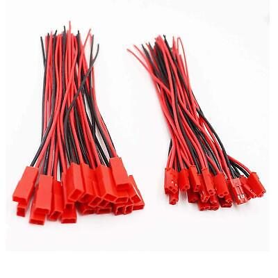 AU6.99 • Buy 20pcs Male / Female JST Connector Plug Cable 22AWG Silicone Lead Wire 10/15/30cm