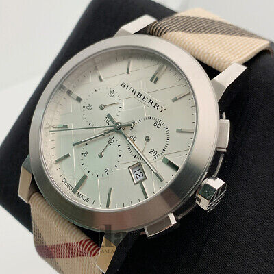 $166 • Buy Burberry BU9357 Nova With Chronograph And Leather Strap Men's Watch