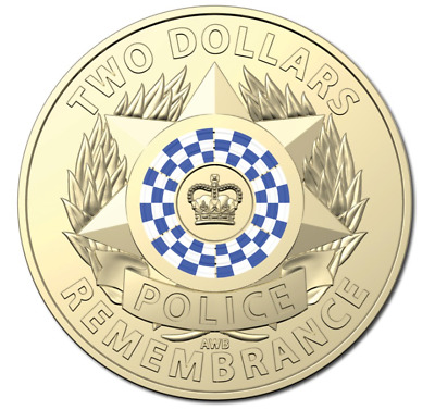 AU7.95 • Buy 2019 $2 Dollar Police Coin - Remembrance - Ex Ram Roll -  Uncirculated