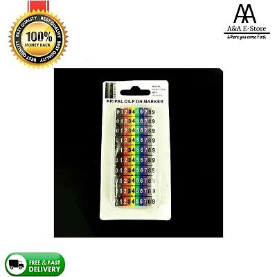 Cable Markers 100 C-Type Marker Number Tag Label For Wire 4-6mm D13 Interlock UK • 3.09£
