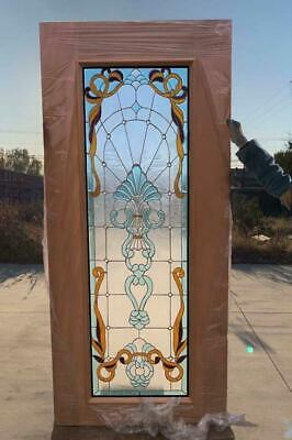 $1500 • Buy Hand Made Leaded Stained Glass Mahogany Entry Door - Jhl2167-44