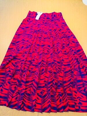 £30 • Buy TOPSHOP RED MIX GORGEOUS SLIT SKIRT SIZE 8 Ladies New