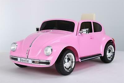 Ride On 12V VW License Pink Beetle Car • 139£