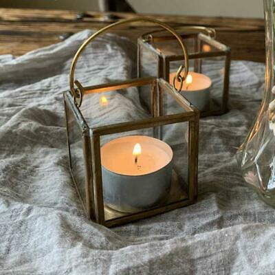 1 X Brass Tea Light Holder - With Handle For Hanging • 4£