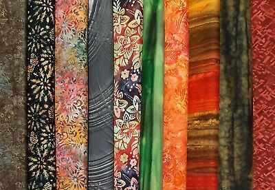 HEATHLAND Batiks Fabric Pack Remnants Patchwork Bundle 100% Cotton • 3.60£
