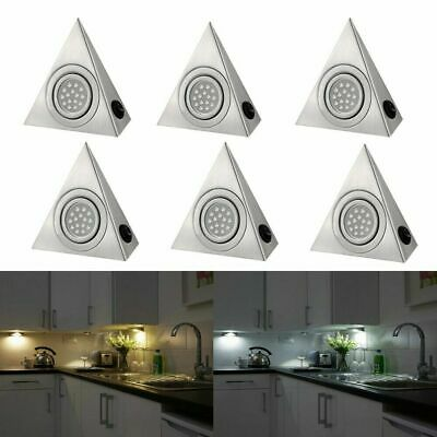 LED Triangle Light Kitchen Under Cabinet Cupboard Shelf Counter Wall Lamp Lights • 7.59£
