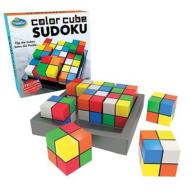 Think Fun Colour Cube Sudoku 3d Puzzle By Paul Lamond Games - Brand New & Sealed • 24.95£