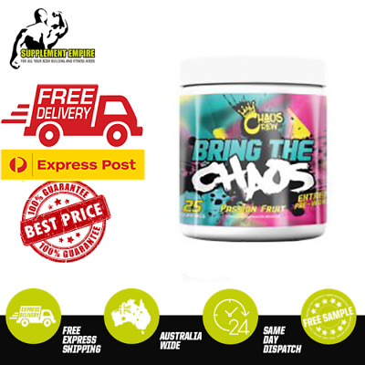 AU59.99 • Buy CHAOS CREW BRING THE CHAOS Potent Preworkout C4 Total War Oxyshred Pump