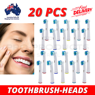 AU16.49 • Buy Replacement Electric Toothbrush Brush Heads For Oral B Braun Series 20 Pieces
