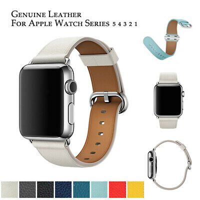 AU8.99 • Buy For Apple Watch Band Series 6 5 4 3 2 IWatch Genuine Leather Strap 42 44 38 40mm