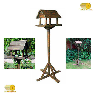 New Traditional Deluxe Pre-Treated Bird Feeding Table From Gardmax Tripod Base  • 18.99£