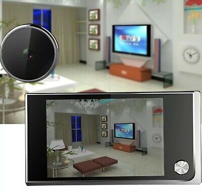 LCD Smart 120° Peephole Viewer Door Eye Night Vision Camera DoorBell 3.5  • 35.99£