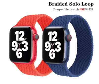 $ CDN7.58 • Buy Strap For Apple Watch Band Braided Solo Silicone Watchband IWatch 6 SE 5 4 3 2 1