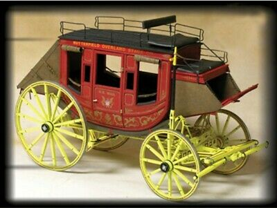 $199.95 • Buy 9 Passenger Western Mail Coach 1:12 Scale Model Kit-Stagecoach Model