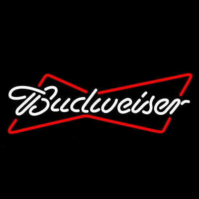 $ CDN220.94 • Buy Budweiser Real Glass Tubes Neon Sign Beer Mancave