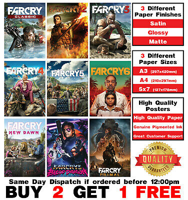 AU16.54 • Buy Far Cry Video Game Poster Art Print Wall Home Room Decor Xbox Playstation PC Art