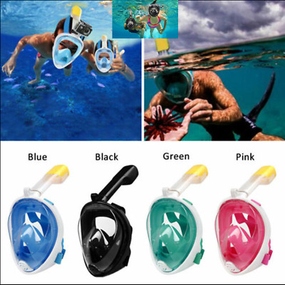 AU28.50 • Buy  Anti Fog Full Face Snorkel Mask Swimming Diving Scuba Goggles Adult For GoPro