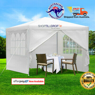 AU63.98 • Buy Instahut Gazebo 3x3m Outdoor Marquee Side Wall Party Wedding Tent Camping White
