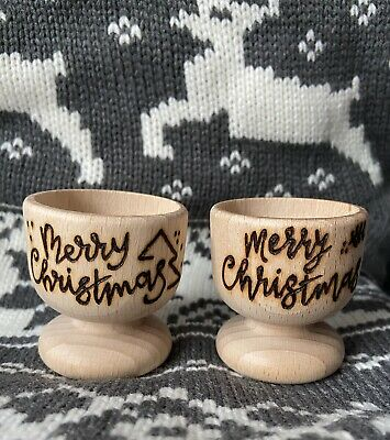 £4.50 • Buy Christmas Personalised Wooden Egg Cup