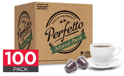 AU41.14 • Buy Nespresso Compatible 100 Coffee Pods Capsules Perfetto (Mixed Pack)