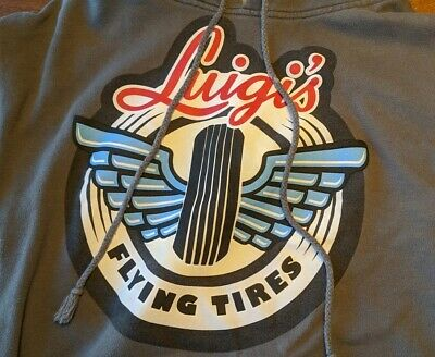 Disney Parks Authentic Cars Land Luigi's Flying Tires Hoodie Size Medium M • 26.22£