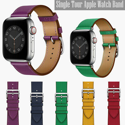 AU14.89 • Buy Genuine Leather Band Strap For Apple Watch 6 5 4 3 SE IWatch 40/44/38/42mm Bands
