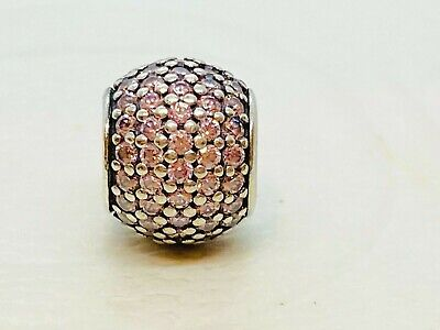 AU39 • Buy Authentic Pandora CZ Pave Lights Pink Sterling Silver Ball Charm 791051 Retired