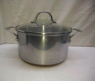 $ CDN84.97 • Buy Kenmore Copper Core 3 Qt Stock Pot Dutch Oven Saucepan Roast Fryer & Lid