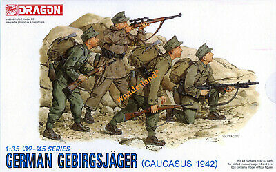 Dragon 1/35 6045 WWII German Gebirgsjager (Caucasus 1942) (4 Figures) • 14.99£