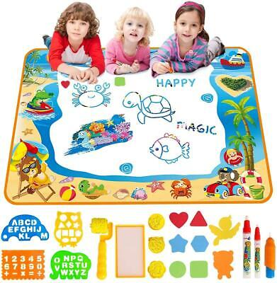 £15.59 • Buy Water Doodle Mat Aqua Drawing Painting Mat Large 100 X 70cm Mess Free Learning