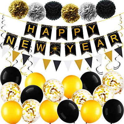 Happy New Year Party Decorations Kit 2021, New Years Eve Party Supplies 2021, • 17.70£
