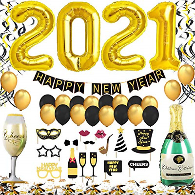 Year's Eve Party Decoration 2021 XXL Set, Happy New Year Banner, 2021 Giant Foil • 20.36£