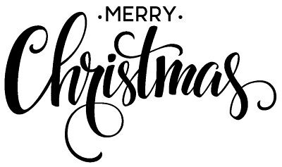 Text - Christmas - Merry Christmas #8 Unmounted Clear Stamp Approx 57x35mm • 2.99£
