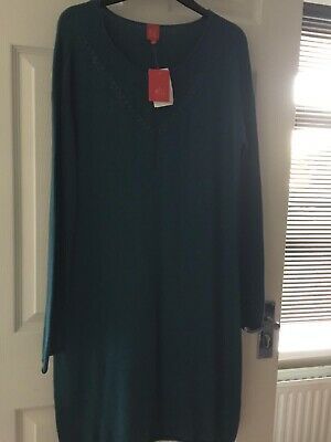 Women's Captain Tortue Dress Teal Size 12 New With Tag RRP £70 • 13.99£