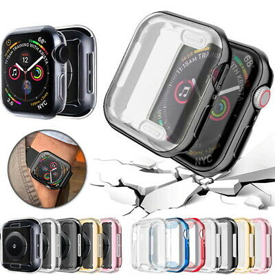 $ CDN5.21 • Buy Watch Cover For Apple Watch Case Soft TPU Screen Protector IWatch 6 SE 5 4 3 2 1